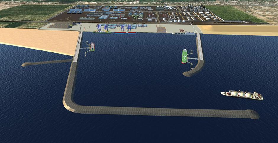 Port pétrolier, minéralier et commercial en eau profonde