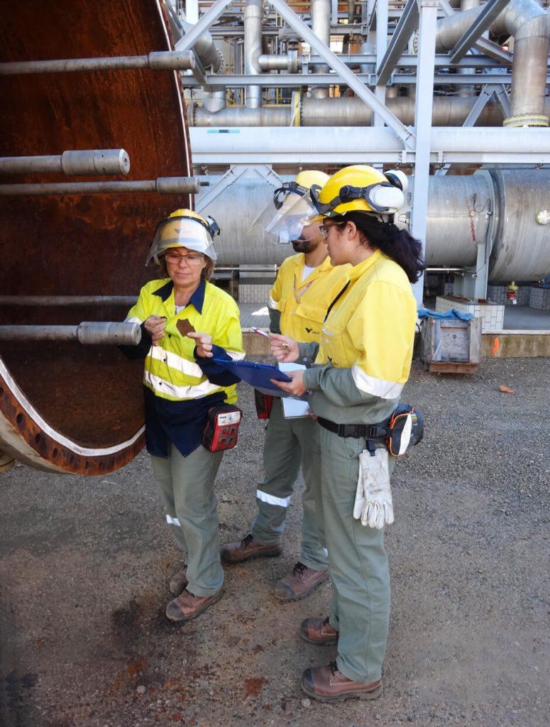 Inspection à l'usine Goro